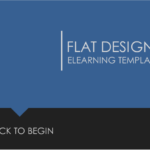 flat eLearning design