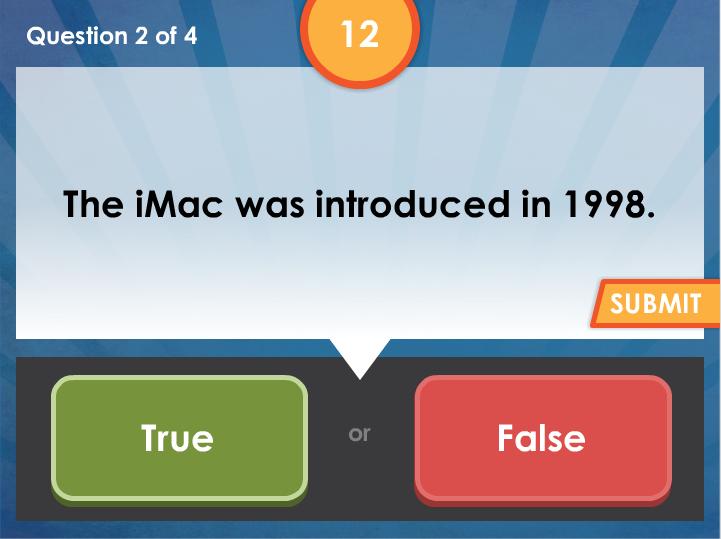 true false quiz template