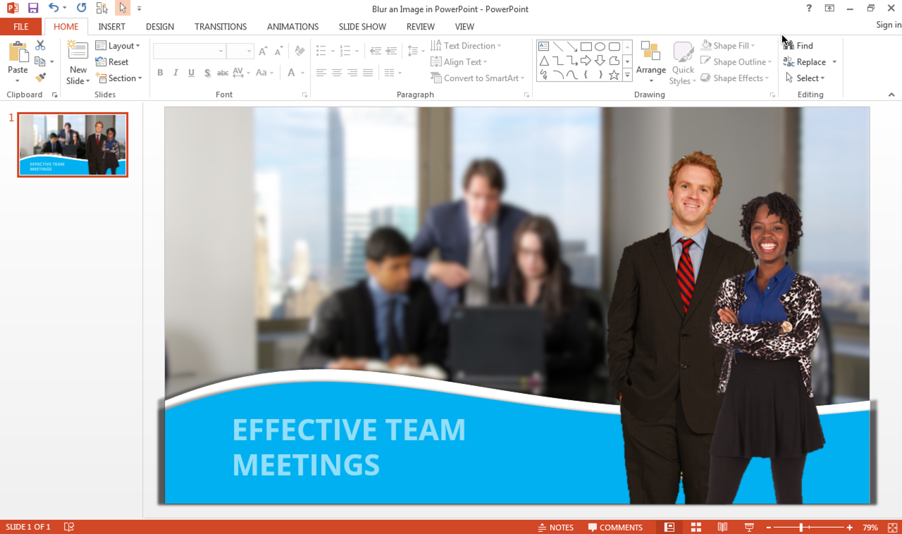 How to Blur an Image in PowerPoint