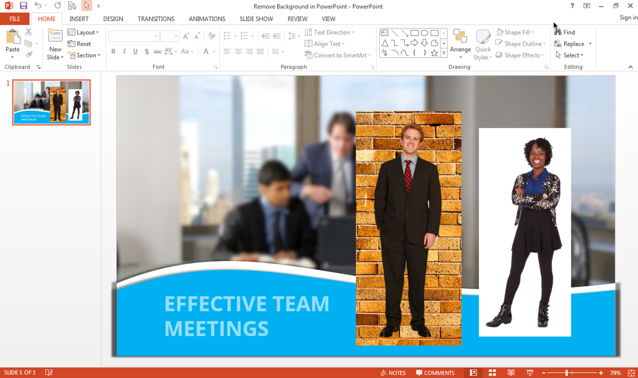 Remove the Background from an Image in PowerPoint