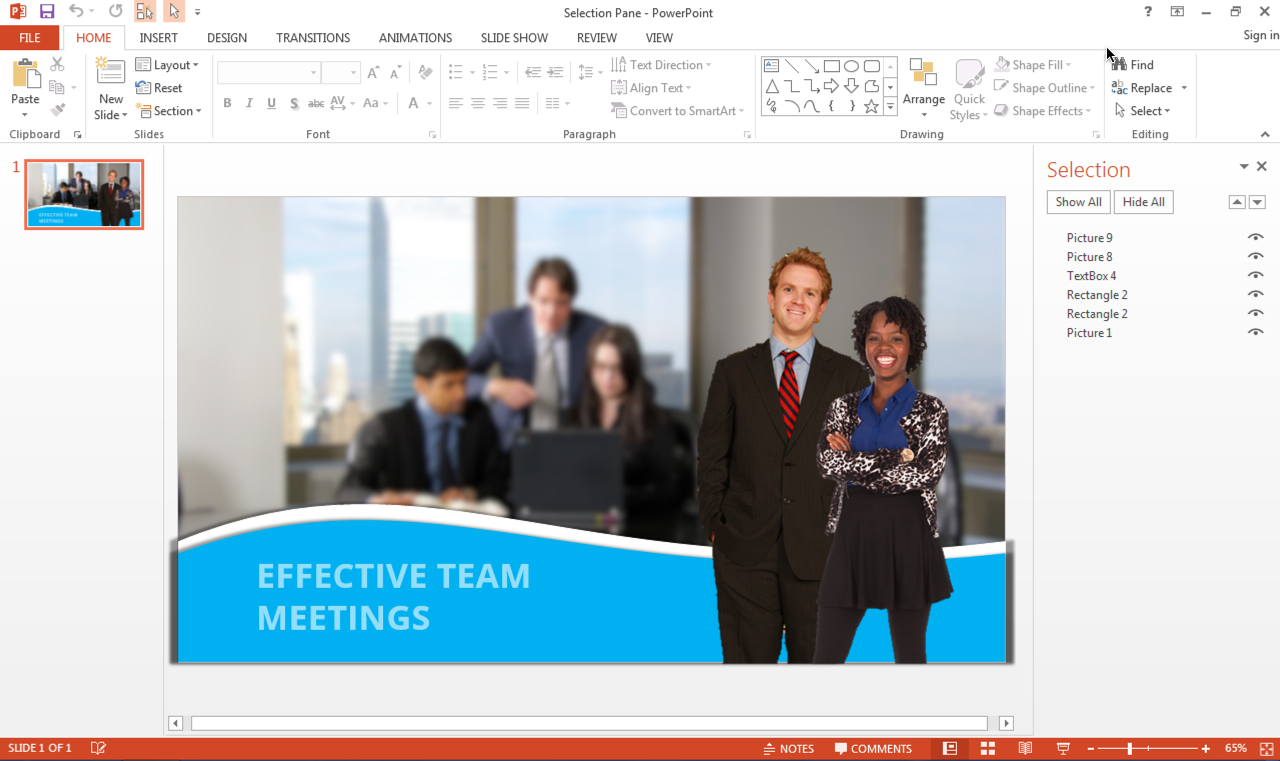 How to Use the Selection Pane in PowerPoint