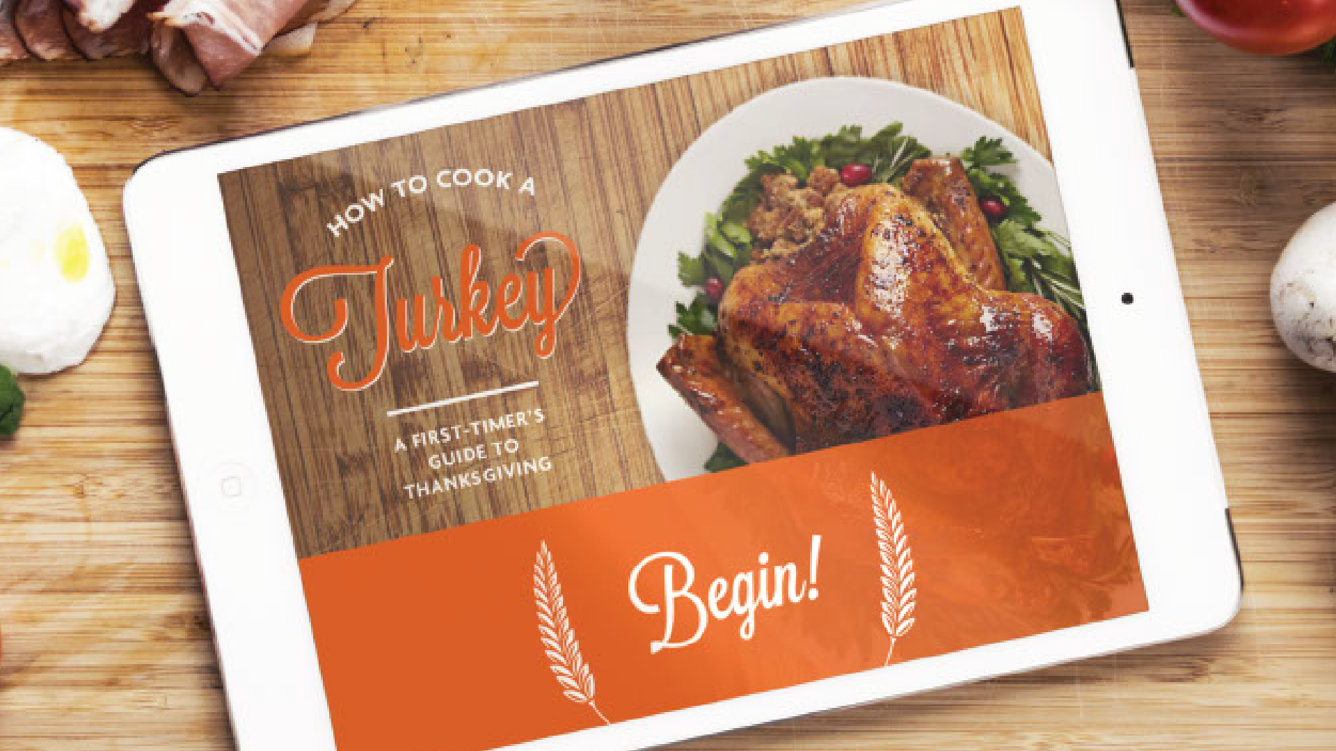 Tim Slade's eLearning Portfolio | How to Cook a Turkey | Custom eLearning Development & Design