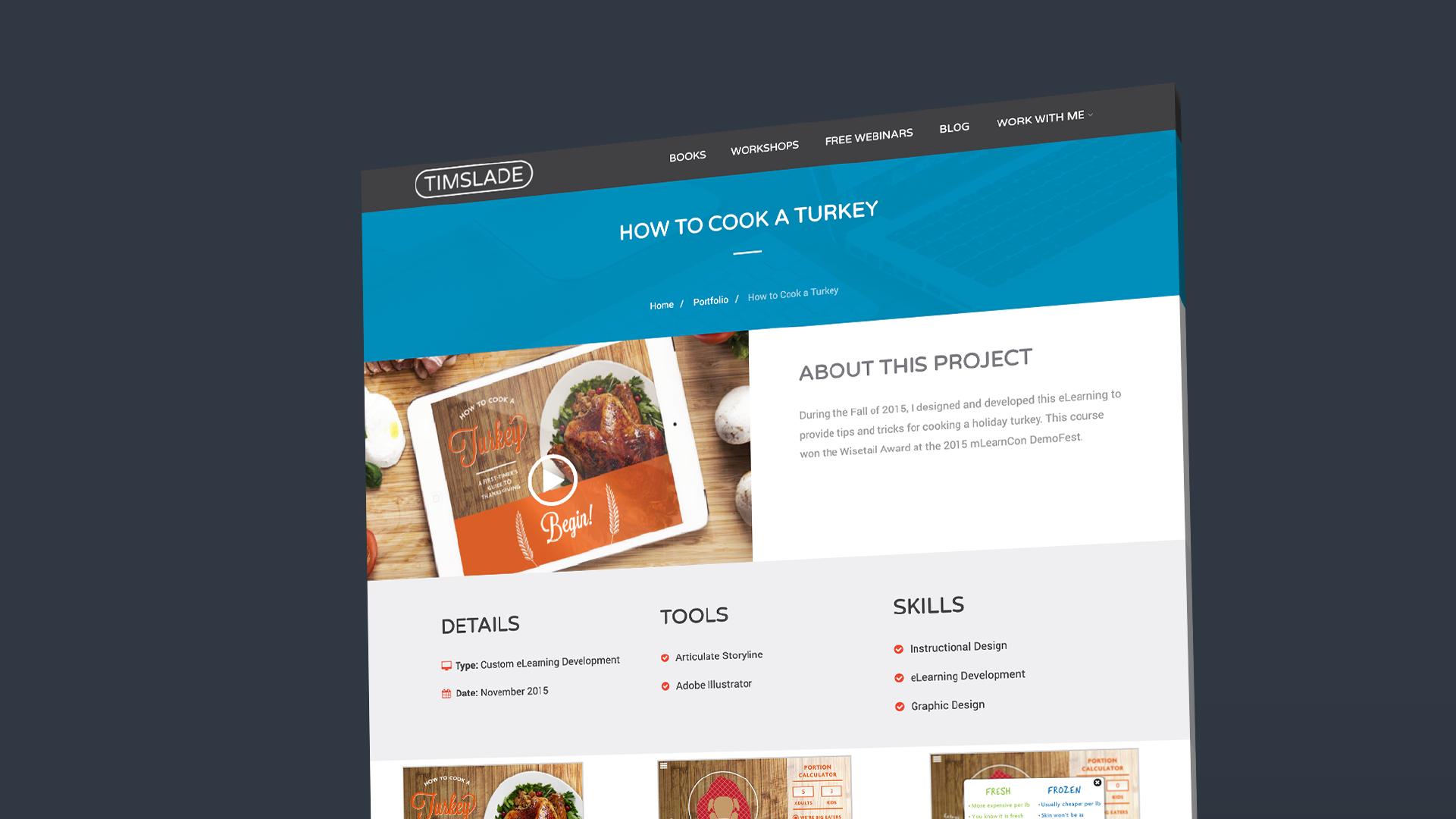 My New eLearning Portfolio | Tim Slade | Custom eLearning Development and Design