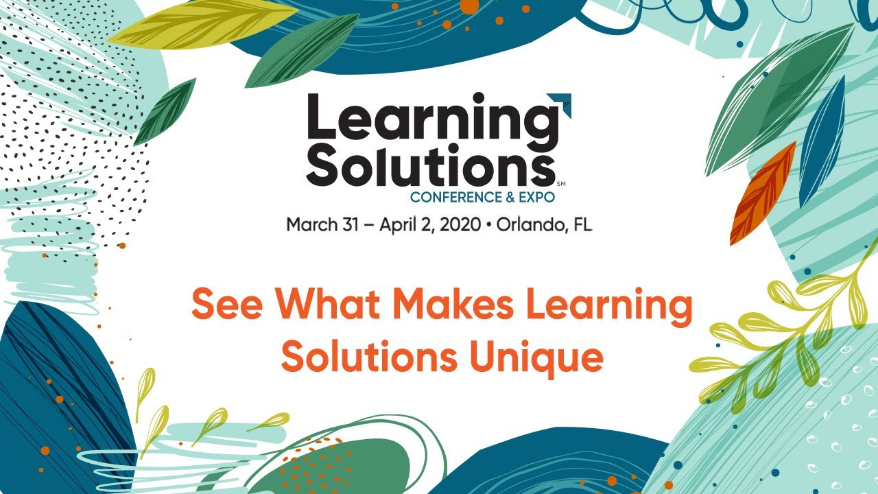 Join me at Learning Solution 2020